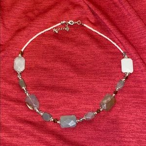 Jewelry - Cute gray and white beaded necklace